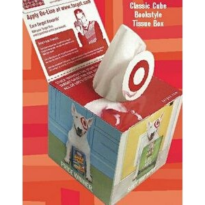 SniftyPak Classic Cube Bookstyle Facial Tissue Box
