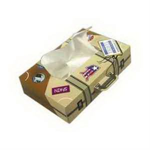 SniftyPak Novelty Series Facial Tissue Paper - Suitcase