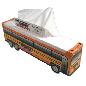 SniftyPak Novelty Series Facial Tissue Paper - Fire Truck/ Bus